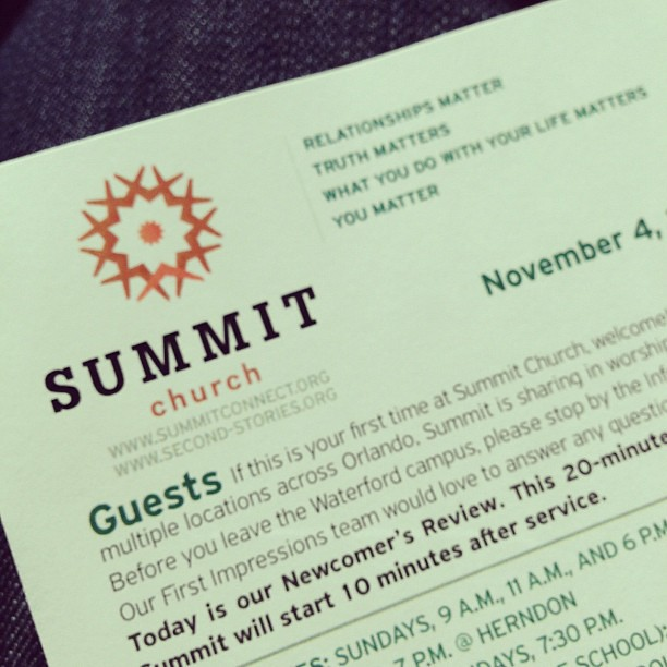 I am thankful for @summitchurch ... and Jesus. #thankful
