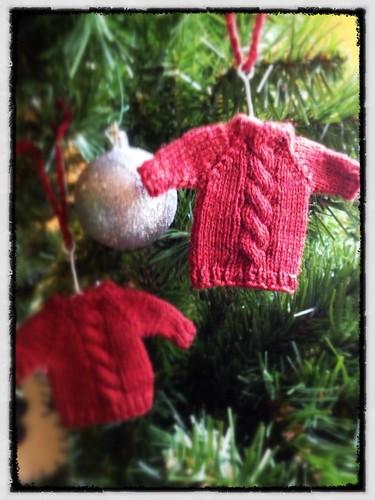 Mini Cabled Ornaments