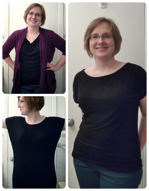 Self-drafted Dolman shirts