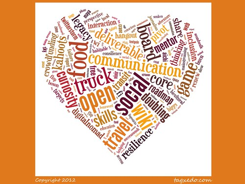 Buzzword Bingo: Heart Word Cloud @tagxedo