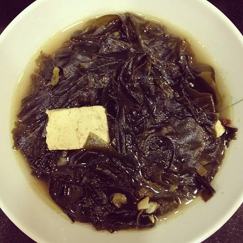 Miyuk gook/seaweed soup!