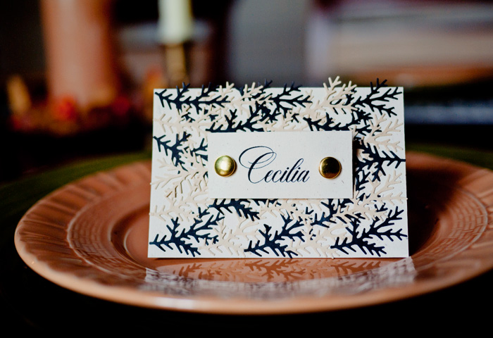 DIY Autumn Leaf Table Place Cards