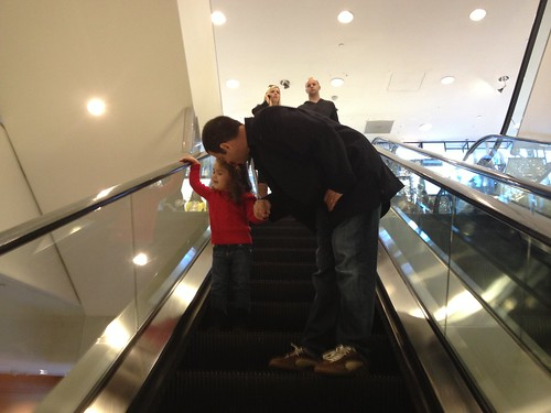 escalator with daddy