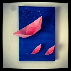 Pink boats blue seasky