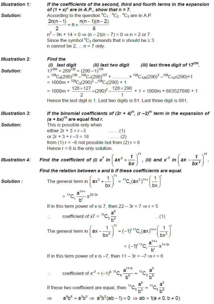Binomial Theorem - Binomial Expressions and Binomial Theorem