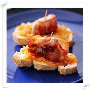 Tosta de Solomillo con Bacon y Cebolla Caramelizada
