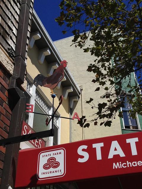 Rooster weathervane at Cafe Du Nord