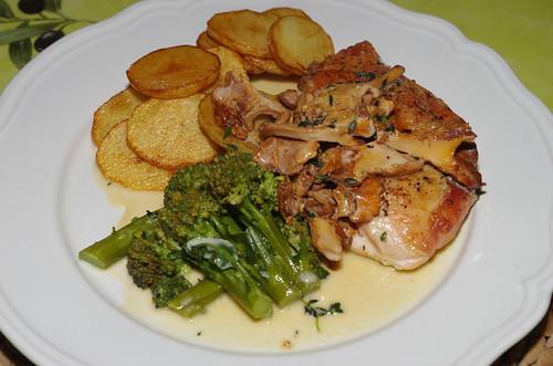 Chicken breast with chanterelles by La belle dame sans souci