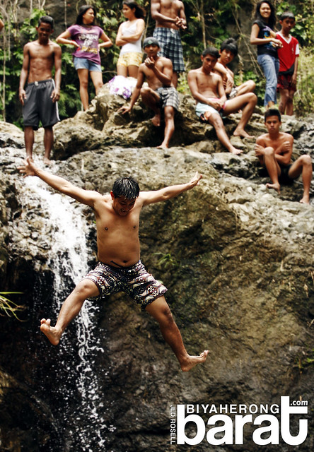 jumping balagbag falls real quezon