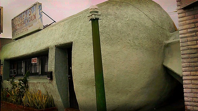 Tamale-shaped building in East Los Angeles. Love!