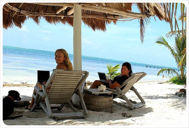 globetrotter girls in their digital nomad office in mexico