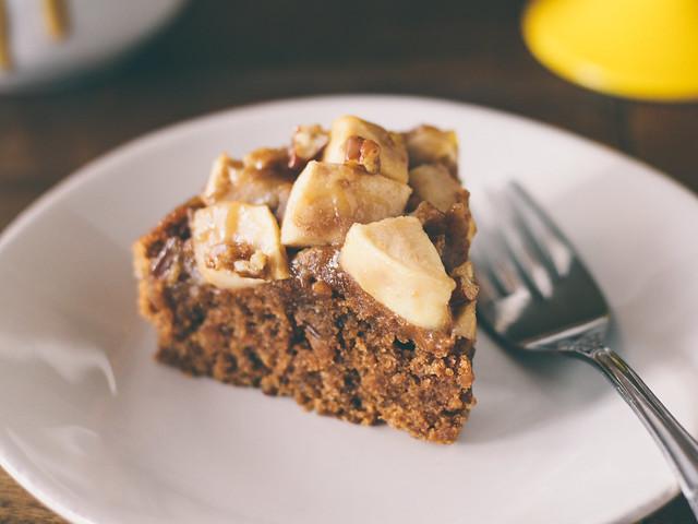 Caramel-swirl apple cake