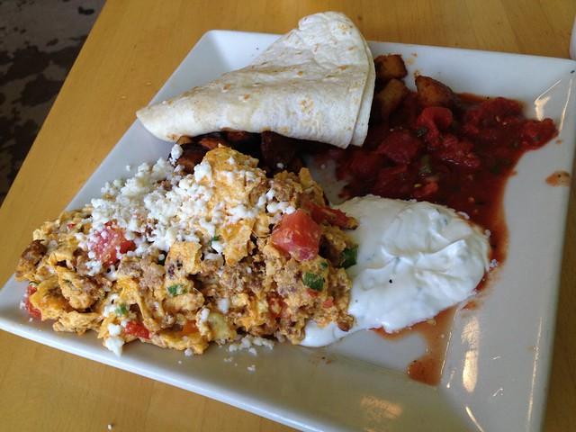 Chorizo sausage scramble - Portage Bay Cafe