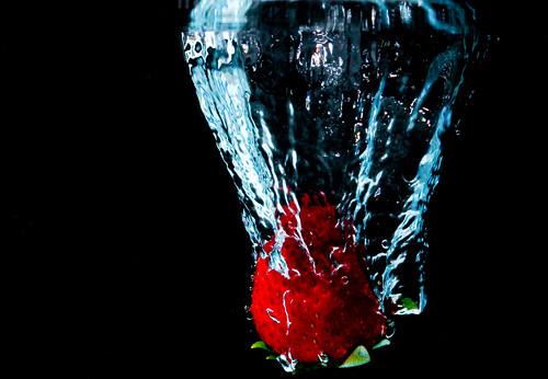 Strawberry Splash 1 by Corbin Elliott Photography