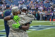 Leon Washington hugs Traci Williams