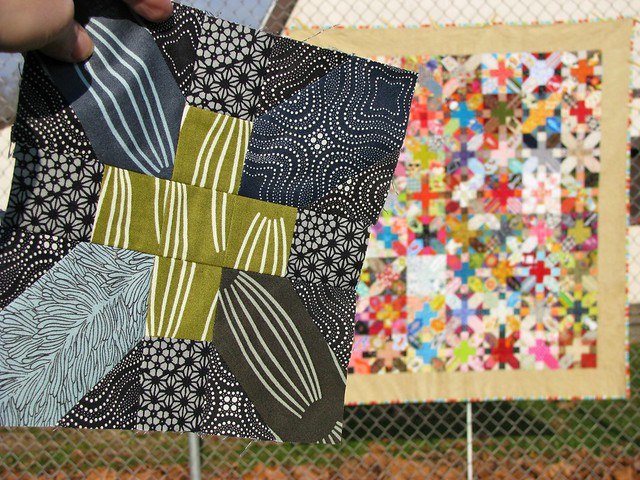 Another X & + Quilt Begins