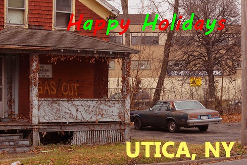 Post Card_UTICA happy holidays by Paul L Esmond