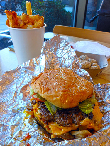 Five Guys Cheeseburger and Fries
