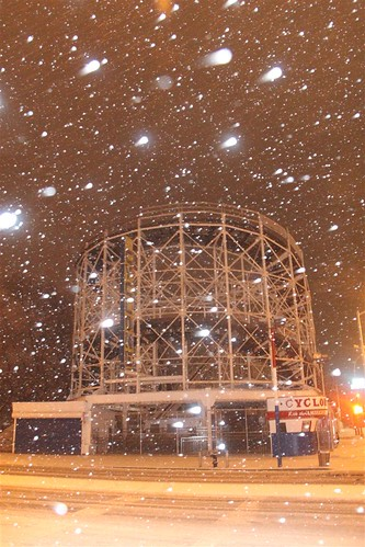 Coney Island: Winter's First Snow.