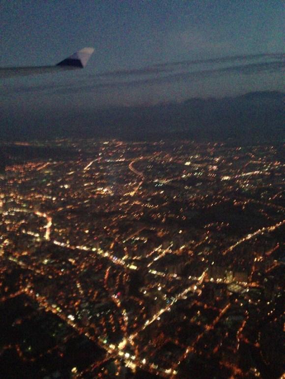 台湾夜景@飛行機