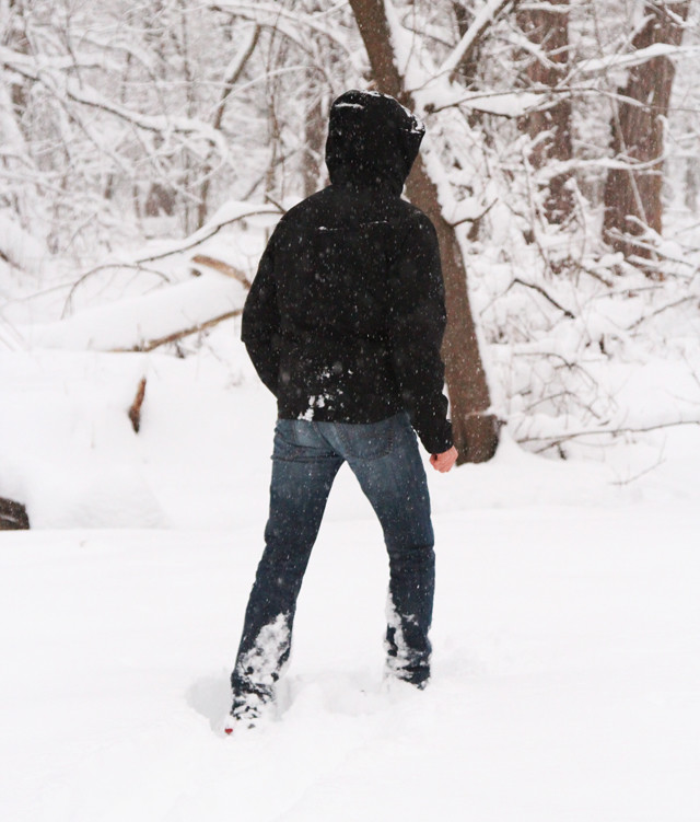 james snowshoeing