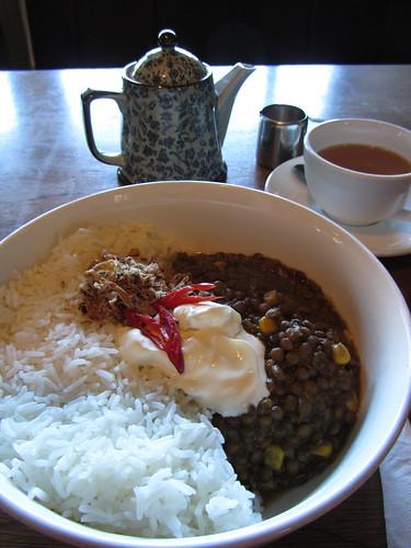 lentil dahl at raven's coffe, denmark, WA