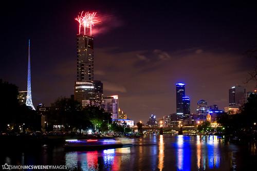 Australia Day Fireworks - Melbourne by catch_simon