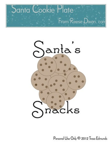 Santa Cookie Plate Pattern