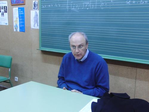 Antonio Martínez Oliva en el conservatorio
