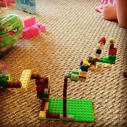 Audrey's Lego playground.