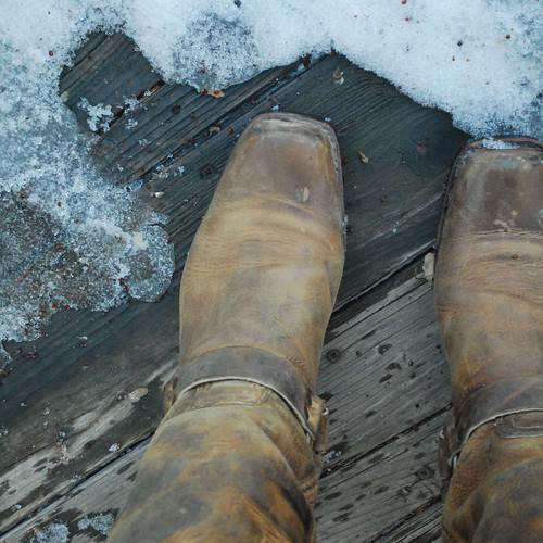 Chevron shirt gray skirt boots
