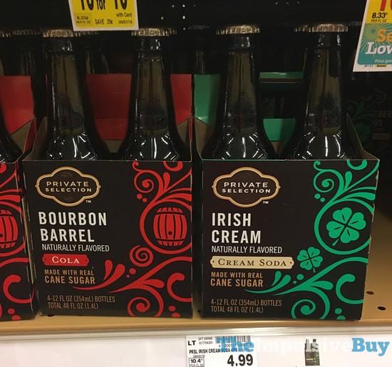 Private Selection Bourbon Barrel Cola and Irish Cream Cream Soda
