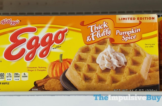Kellogg's Limited Edition Thick & Fluffy Pumpkin Spice Eggo Waffles