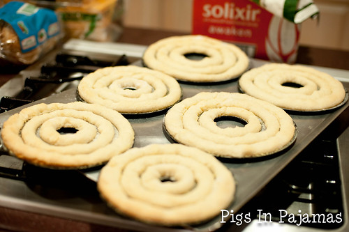 Kransekake dough baked