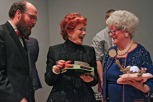 Shelley Rubin, Martha Wilson, Adrian Owen (photo by Maria Pecchioli)