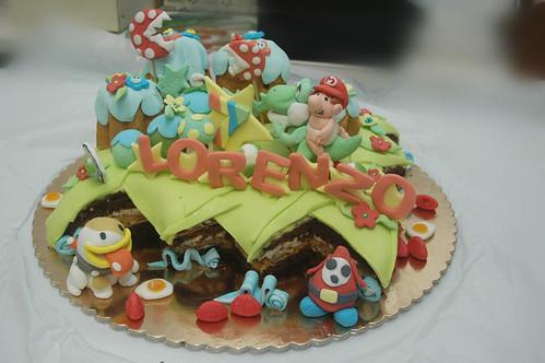 Yoshi Island Cake!!!