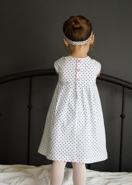geranium snowflake dress