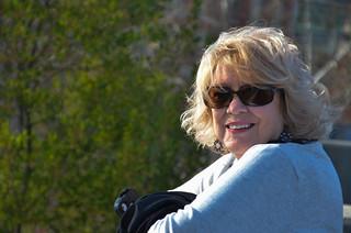 Glynda at Falls Park