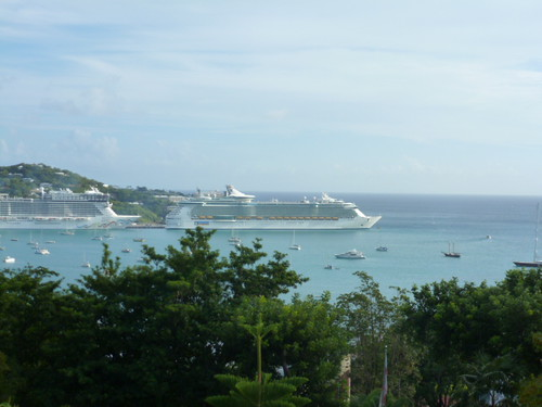11-14-12 St.Thomas, VI 16 - View of Cruise Ship in Harbor from Blackbeard's Castle