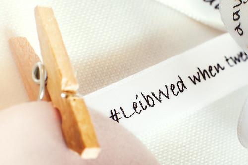 Printed Ribbon Twitter Hashtag #LeibWed