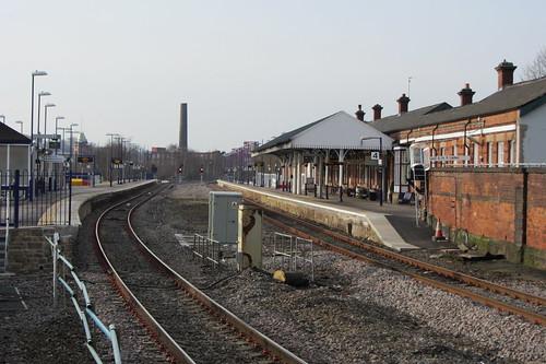 Stalybridge Station, from end of platform 1