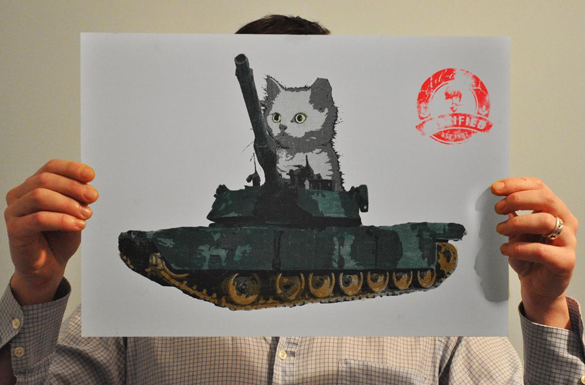 Tammy in a tank