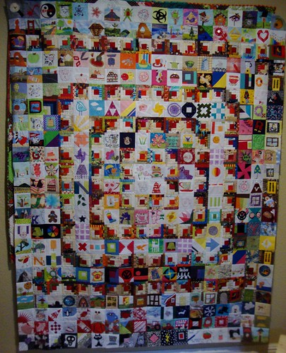 Bitty Block quilt top by jgmehlin