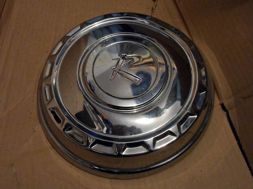 1963 Rambler hubcap - after