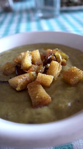 Leek & potato velluteè - Vellutata di porro & patate