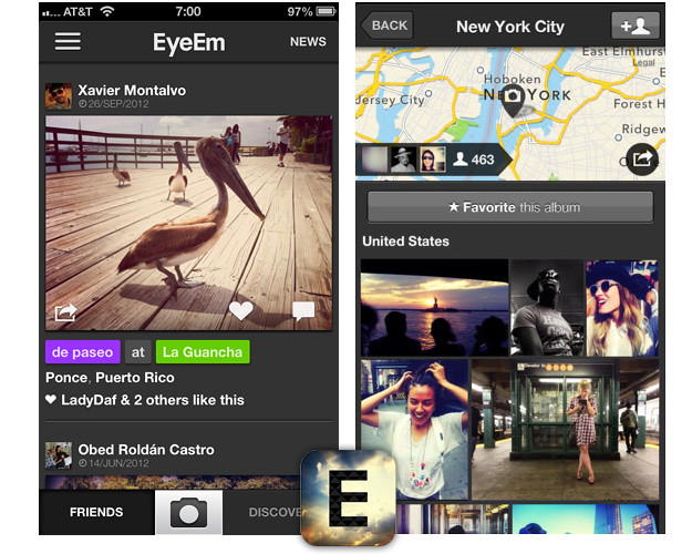 EyeEm — Alternativas a Instagram para iOS