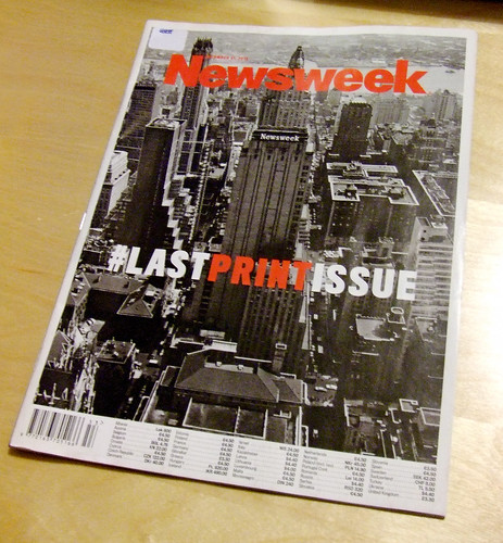 Last print issue of Newsweek magazine