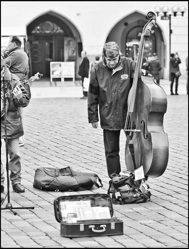 Prag / Straßenmusikant / busker