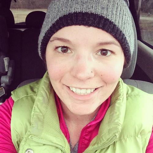 5 miles. 17 degrees. Still smiling? Oh yeah. #runjennarun #clevelandhalf #training