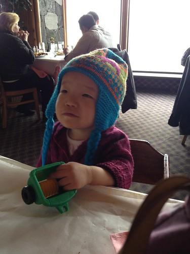 Sarah & her new hat! :)